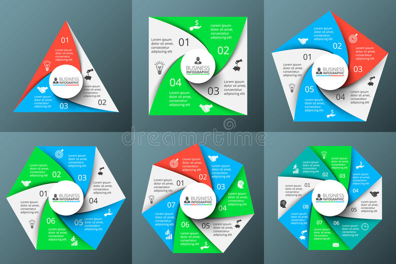 Vectorcirkelelementen voor infographic royalty-vrije illustratie