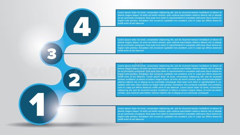 Vectorcirkelelementen voor infographic Malplaatje voor diagram vector illustratie