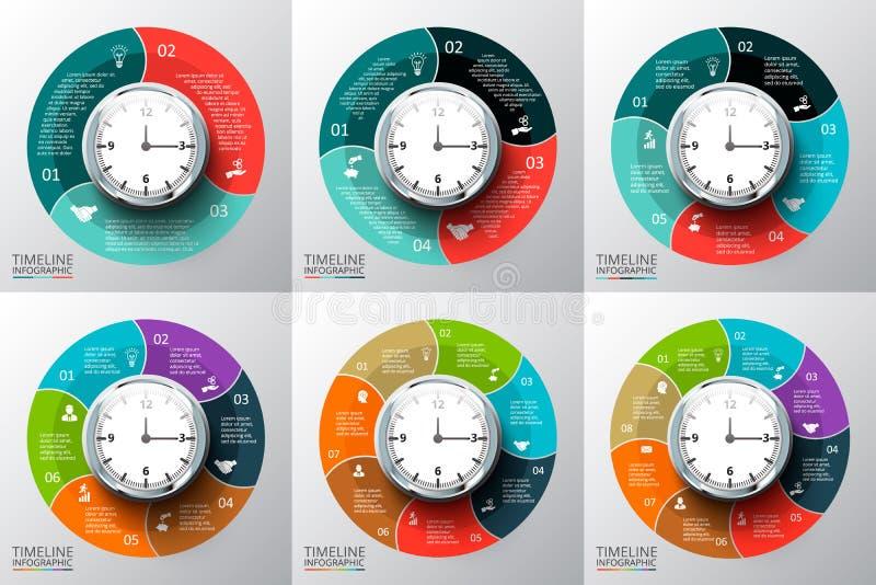 Vectorcirkelselementen voor infographic royalty-vrije illustratie