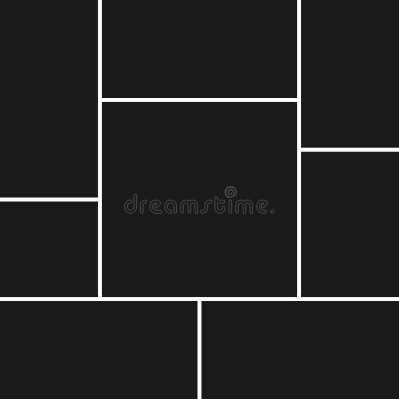 Vectorcollage voor foto's royalty-vrije illustratie