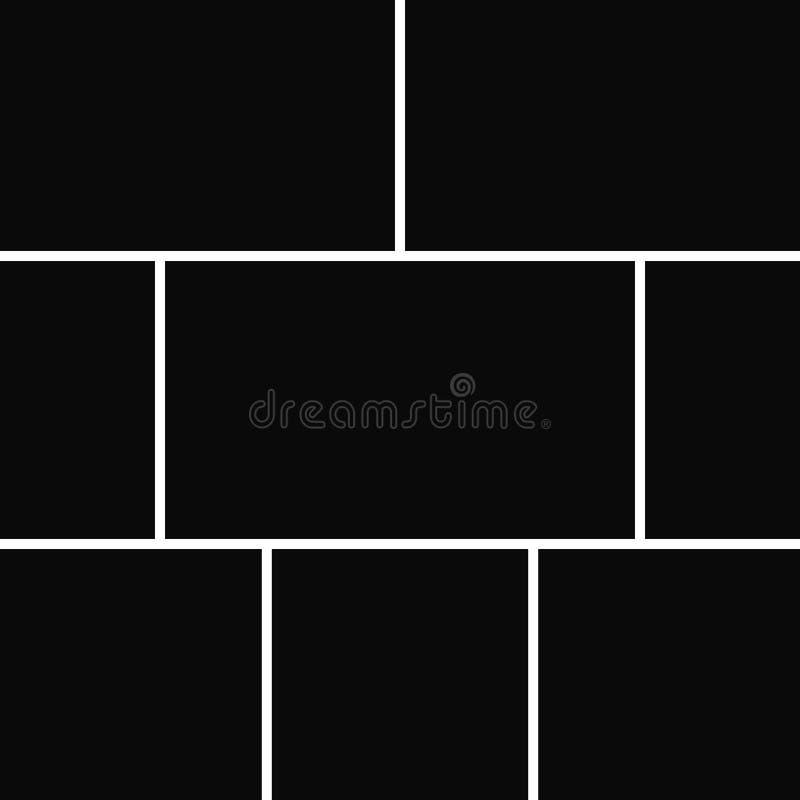 Vectorcollage voor foto's vector illustratie