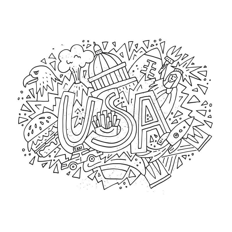 Vectorconcept de V.S. stock illustratie