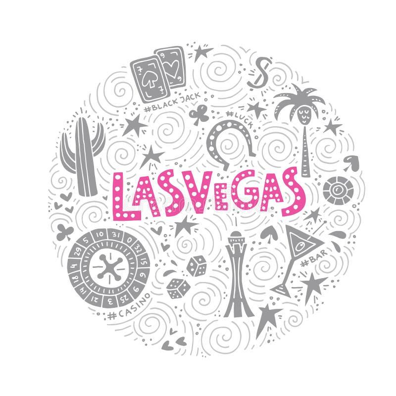 Vectorconcept Las Vegas royalty-vrije illustratie