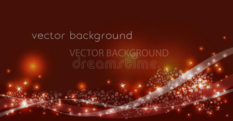 Vectorconstellatiestroom in ruimte royalty-vrije illustratie