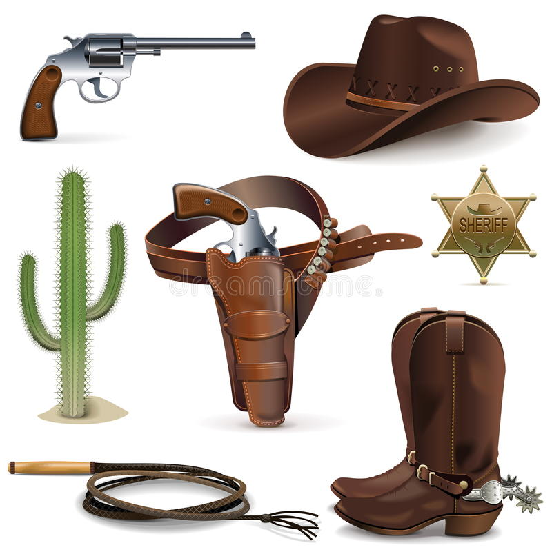 Vectorcowboy Icons royalty-vrije illustratie