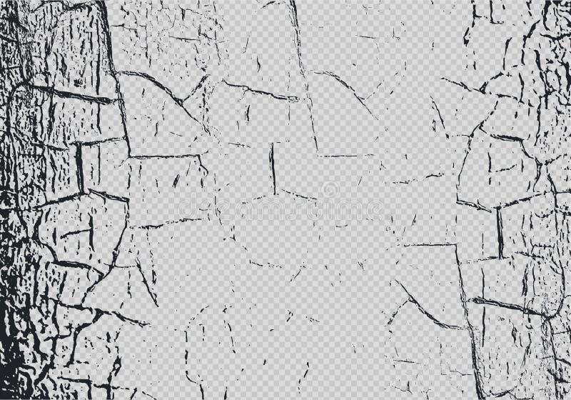 Vectorcraquelureeffect bekleding op transparante achtergrond Marmeren textuur met gebarsten verf krassen Subtiele samenvatting gr royalty-vrije illustratie