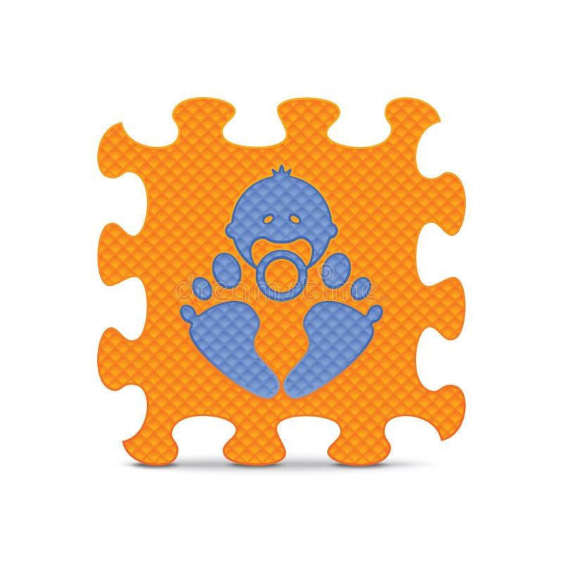 Download Vectordiebabyteken Met Alfabetraadsel Wordt Gemaakt Vector Illustratie - Illustratie bestaande uit grafisch, gambling: 39107587