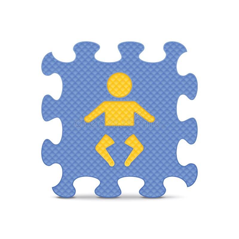 Download Vectordiebabyteken Met Alfabetraadsel Wordt Gemaakt Vector Illustratie - Illustratie bestaande uit achtergrond, klem: 39107800