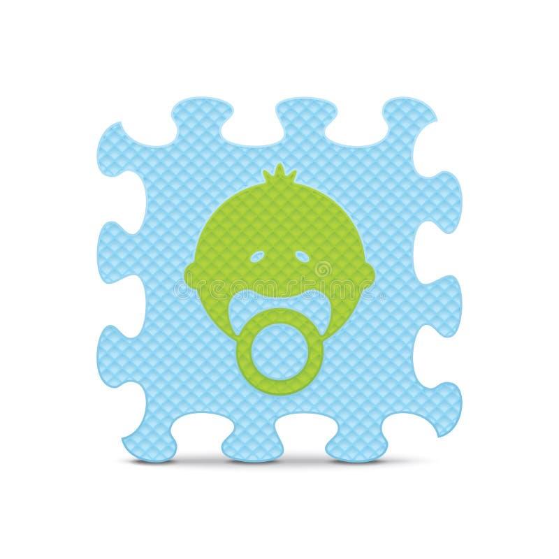 Download Vectordiebabyteken Met Alfabetraadsel Wordt Gemaakt Vector Illustratie - Illustratie bestaande uit gambling, klem: 39108246