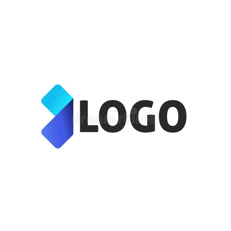 Vectordieontwerp van pijl het abstracte logotype, het malplaatje van het embleemelement op witte achtergrond, creatieve moderne g vector illustratie