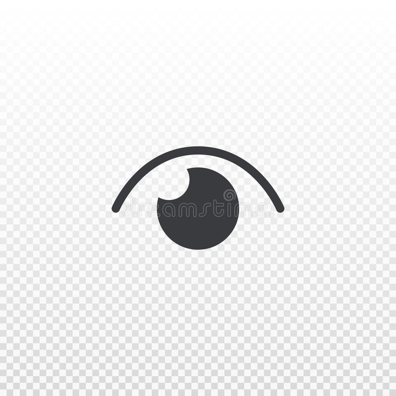 Vectordieoogpictogram op transparante achtergrond wordt geïsoleerd Pictogramaantal meningen Element voor ontwerp app, praatje, bo royalty-vrije illustratie