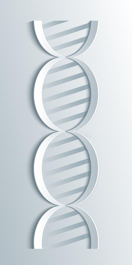 Vectordna-moleculestructuur Wetenschap en biotechnologie organisch ontwerp vector illustratie