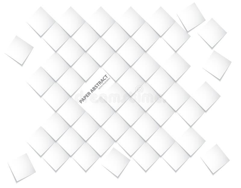 Vectordocument Abstract achtergrondvierkantenwit en schaduw royalty-vrije illustratie