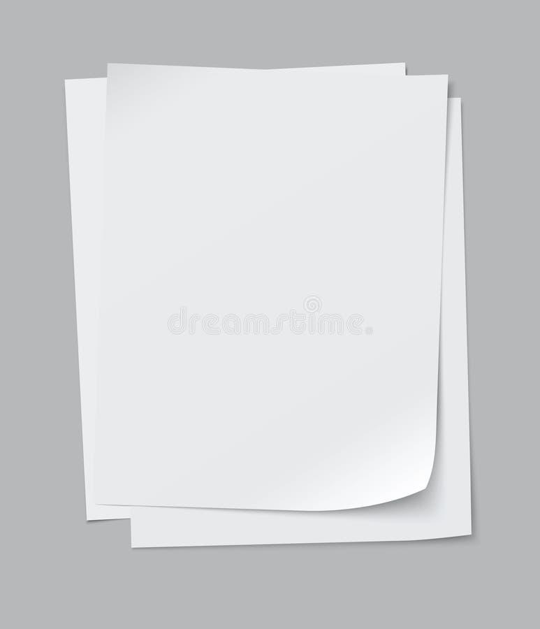 Vectordocument bladen stock illustratie