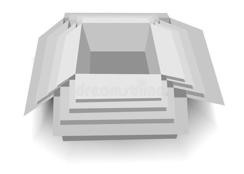 Vectordoos royalty-vrije stock afbeelding