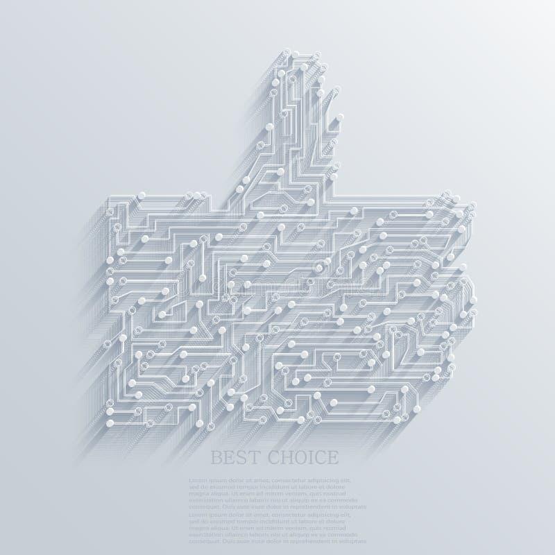 Vectorduim op pictogramachtergrond. Eps10 vector illustratie