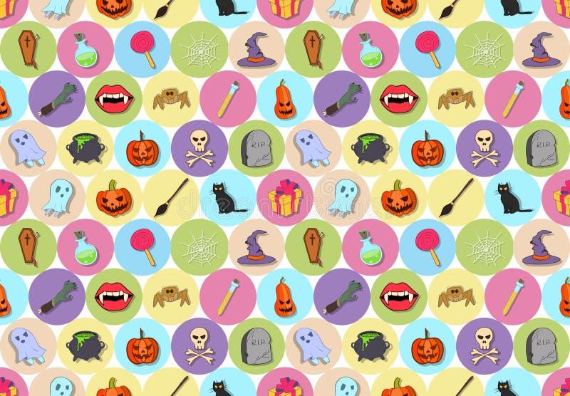 Vectore Halloween bezszwowy wzór royalty ilustracja