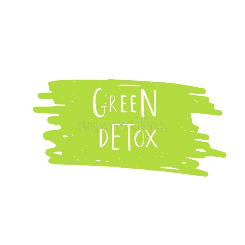 Vectoreco, bio groen embleem of teken Veganist, ruw, gezond slecht voedsel royalty-vrije illustratie