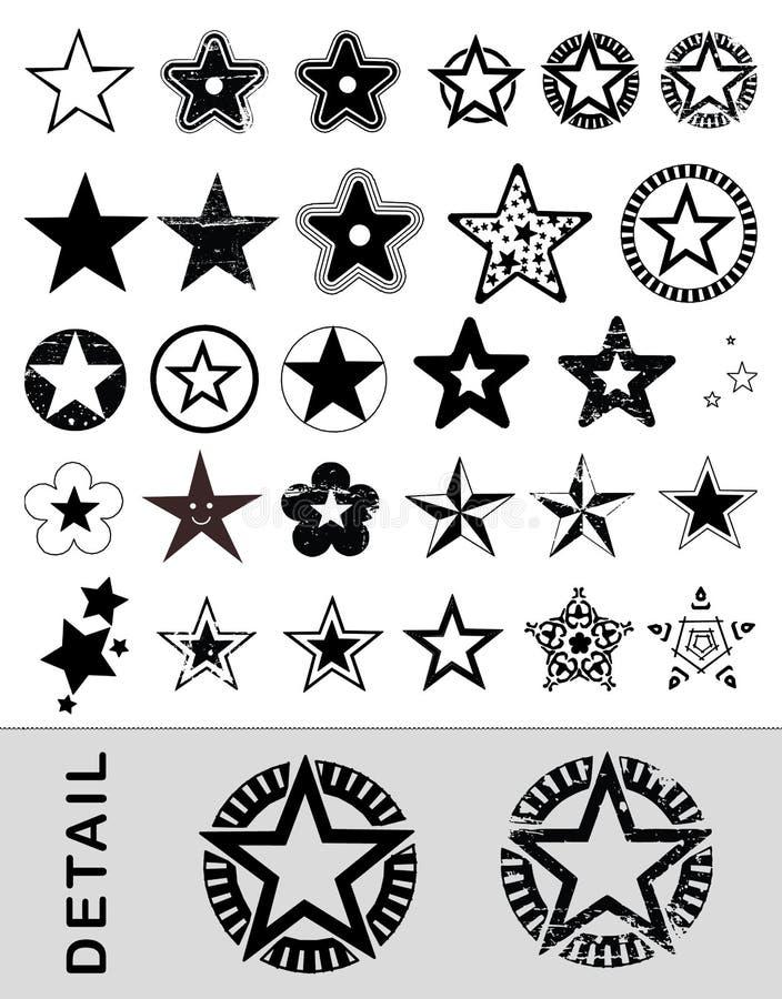 vectored stjärnor royaltyfri illustrationer