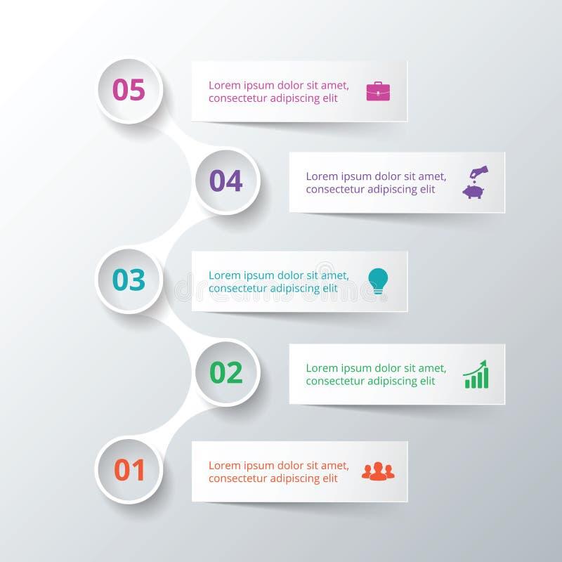 Vectorelementen voor infographic stock illustratie