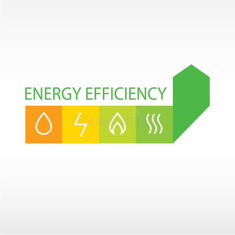 Vectorembleem, energierendement stock illustratie