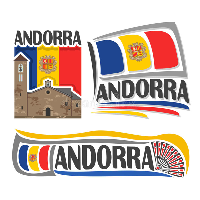 Vectorembleem voor Andorra vector illustratie