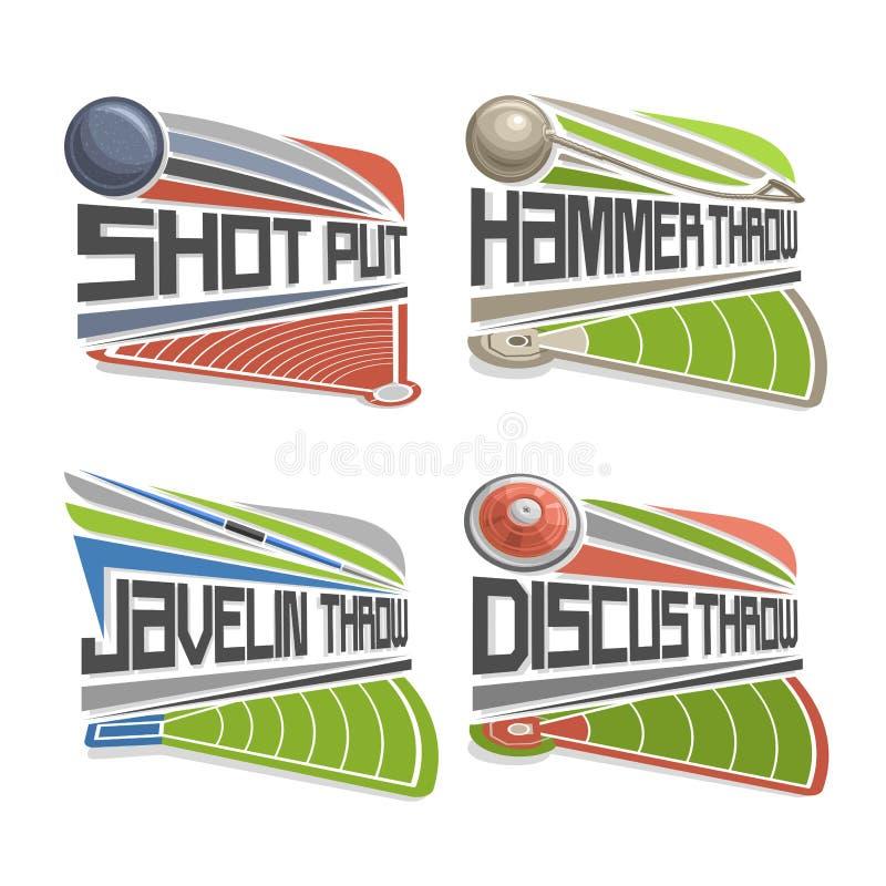 Vectorembleem voor Atletiekgebied vector illustratie