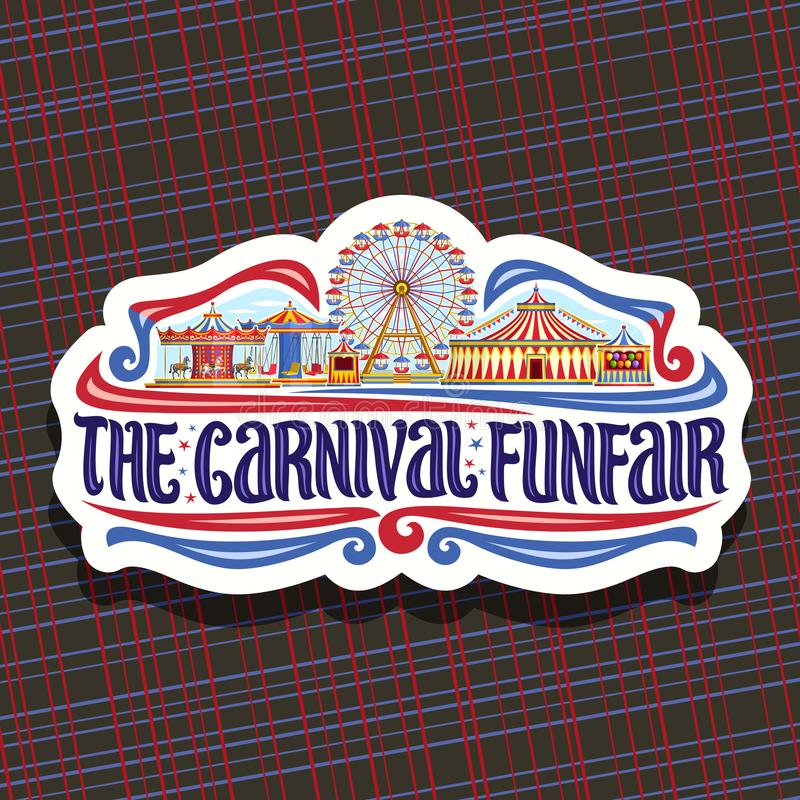Vectorembleem voor Carnaval Funfair vector illustratie