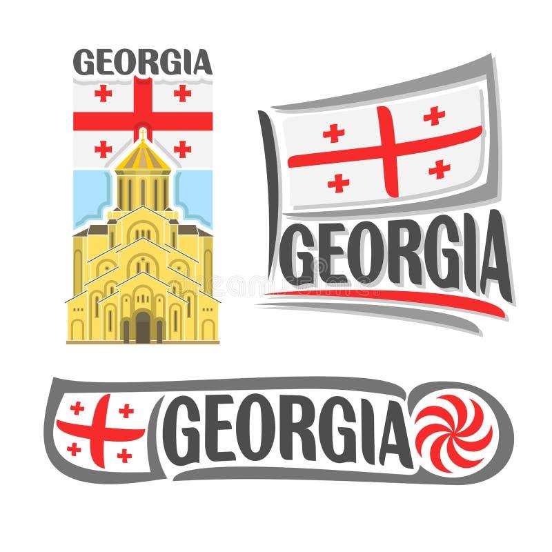 Vectorembleem voor Georgië royalty-vrije illustratie