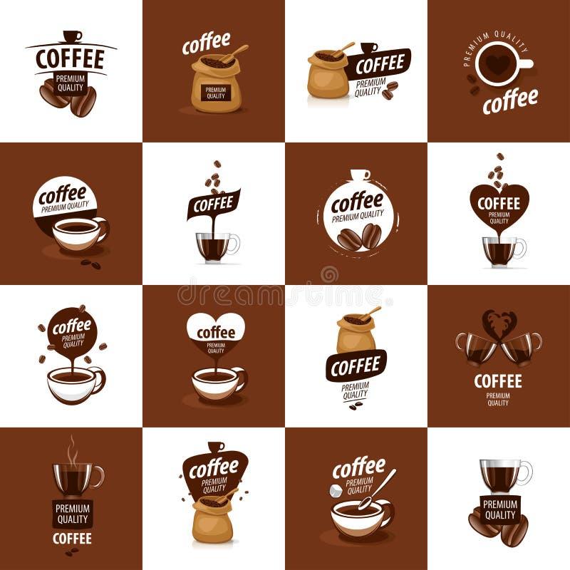 Vectorembleem voor koffie royalty-vrije illustratie
