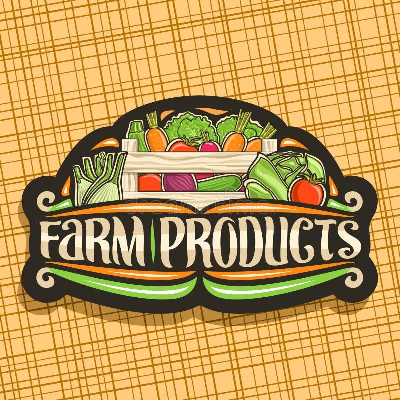 Vectorembleem voor landbouwproducten vector illustratie
