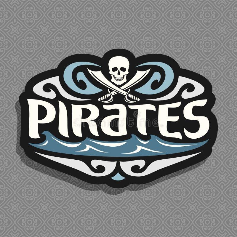 Vectorembleem voor Piraatthema royalty-vrije illustratie