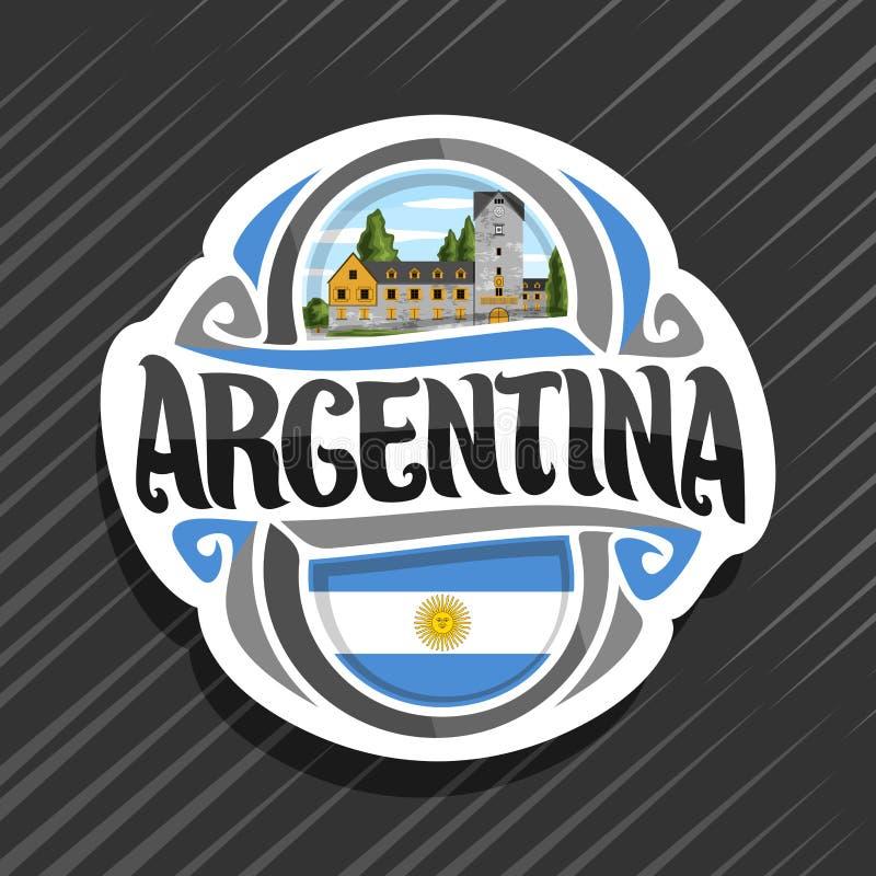 Vectorembleem voor Republiek Argentinië vector illustratie
