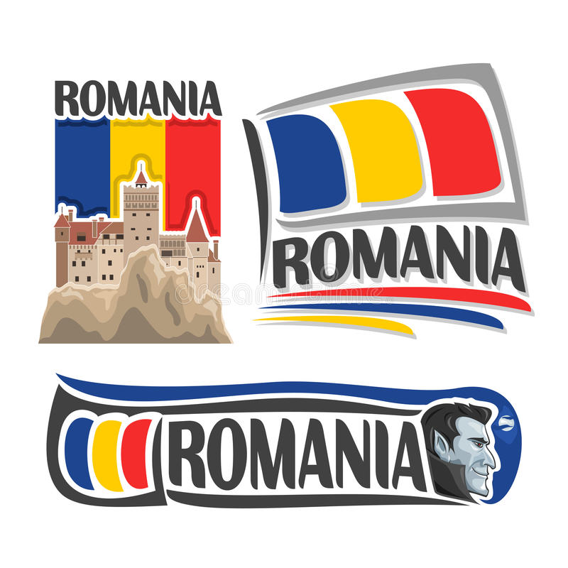 Vectorembleem voor Roemenië vector illustratie