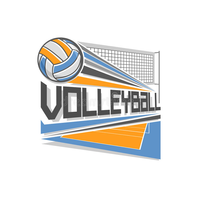Vectorembleem voor volleyball stock illustratie