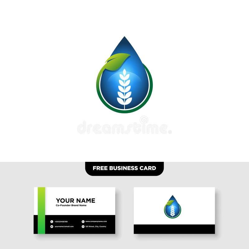 Vectorembleemontwerp voor landbouw, agronomie, landelijk de landbouwgebied van het land, natuurlijke oogst royalty-vrije illustratie