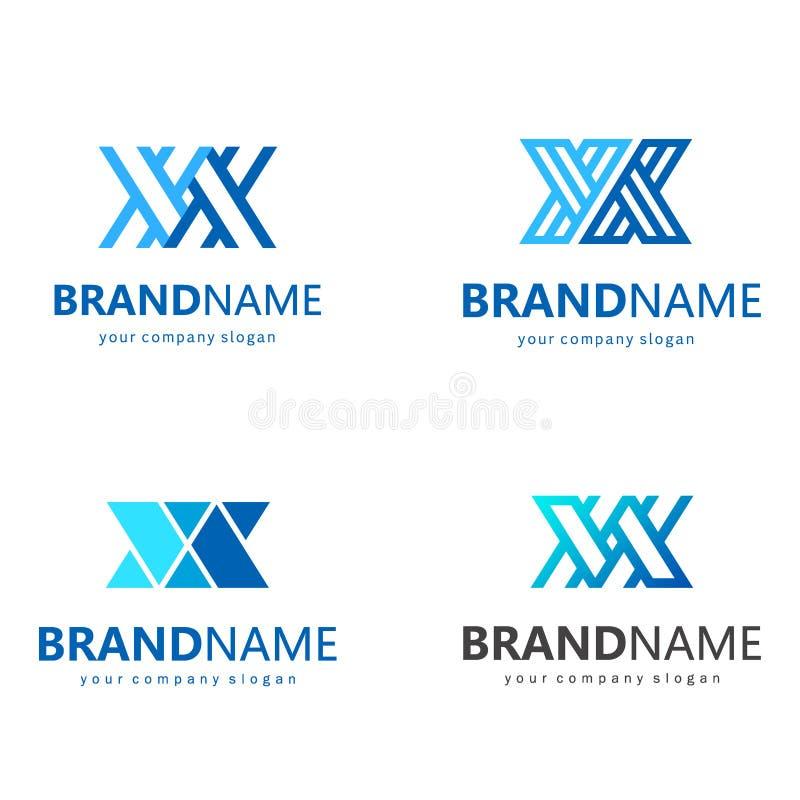 Vectorembleemontwerp voor zaken Brief X Twee brieven X royalty-vrije illustratie