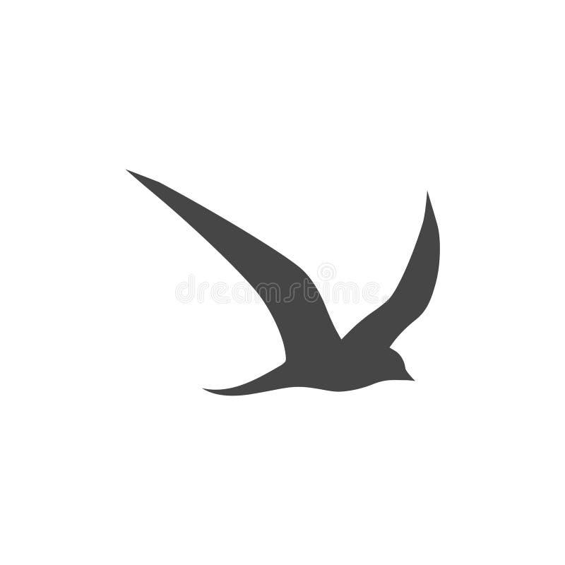 Vectorembleemvogels tijdens de vlucht royalty-vrije illustratie