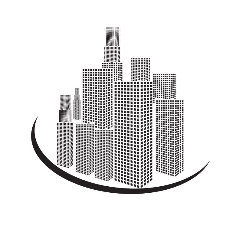 Vectoren zwart-witte de bouw op witte achtergrond stock illustratie