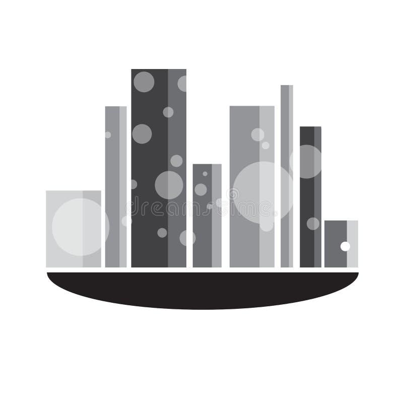 Vectoren zwart-witte de bouw op witte achtergrond vector illustratie