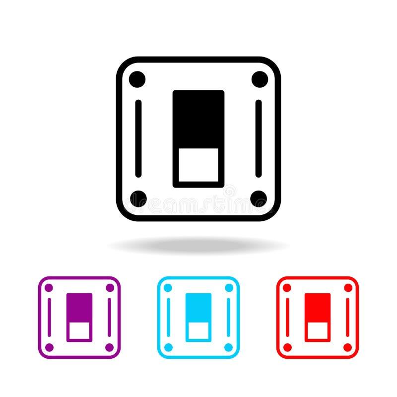 Vectoreps 10 Elementen van elektriciteit in multi gekleurde pictogrammen Grafisch het ontwerppictogram van de premiekwaliteit Een royalty-vrije illustratie