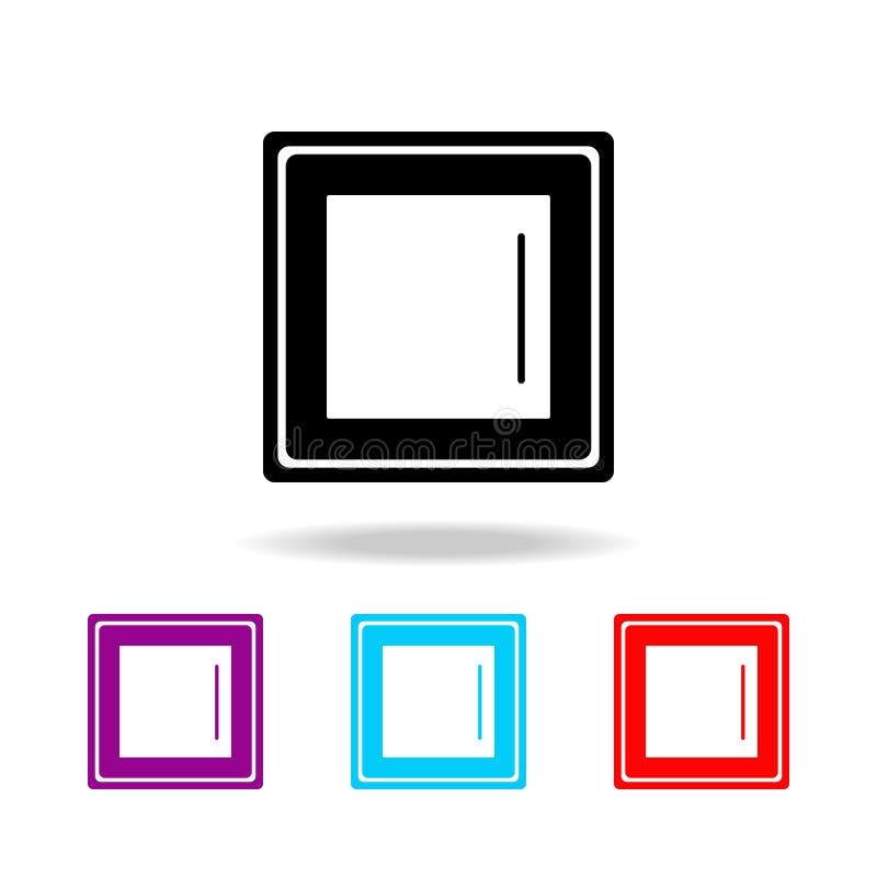Vectoreps 10 Elementen van elektriciteit in multi gekleurde pictogrammen Grafisch het ontwerppictogram van de premiekwaliteit Een vector illustratie
