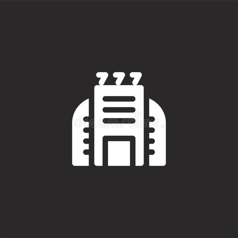 Vectoreps 10 Gevuld casinopictogram voor websiteontwerp en mobiel, app ontwikkeling casinopictogram van gevulde stedelijke de bou vector illustratie