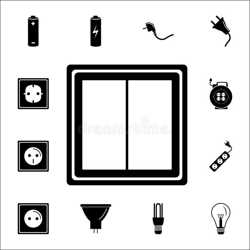 Vectoreps 10 Reeks Energiepictogrammen Grafische het ontwerppictogrammen van de premiekwaliteit Tekens en symboleninzamelingspict royalty-vrije illustratie