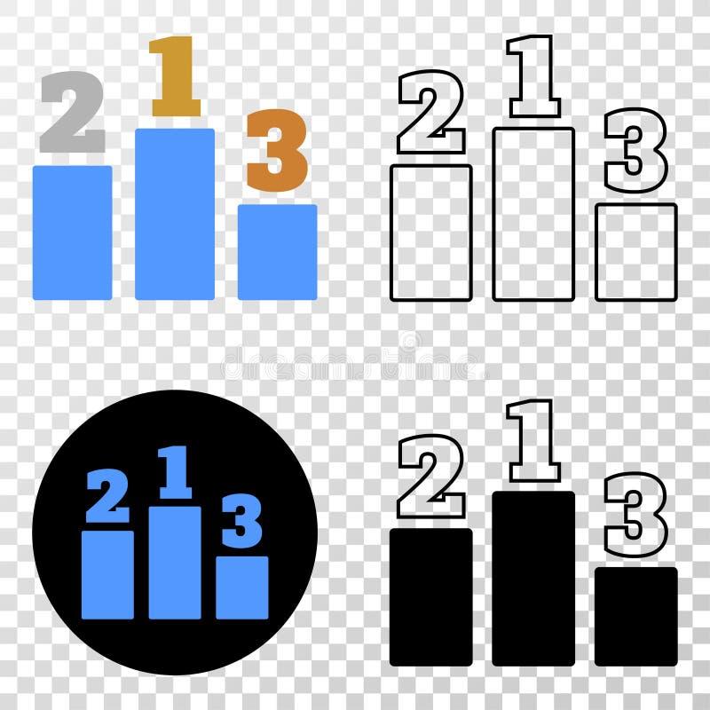 Vectoreps van prijsplaatsen Pictogram met Contourversie stock illustratie