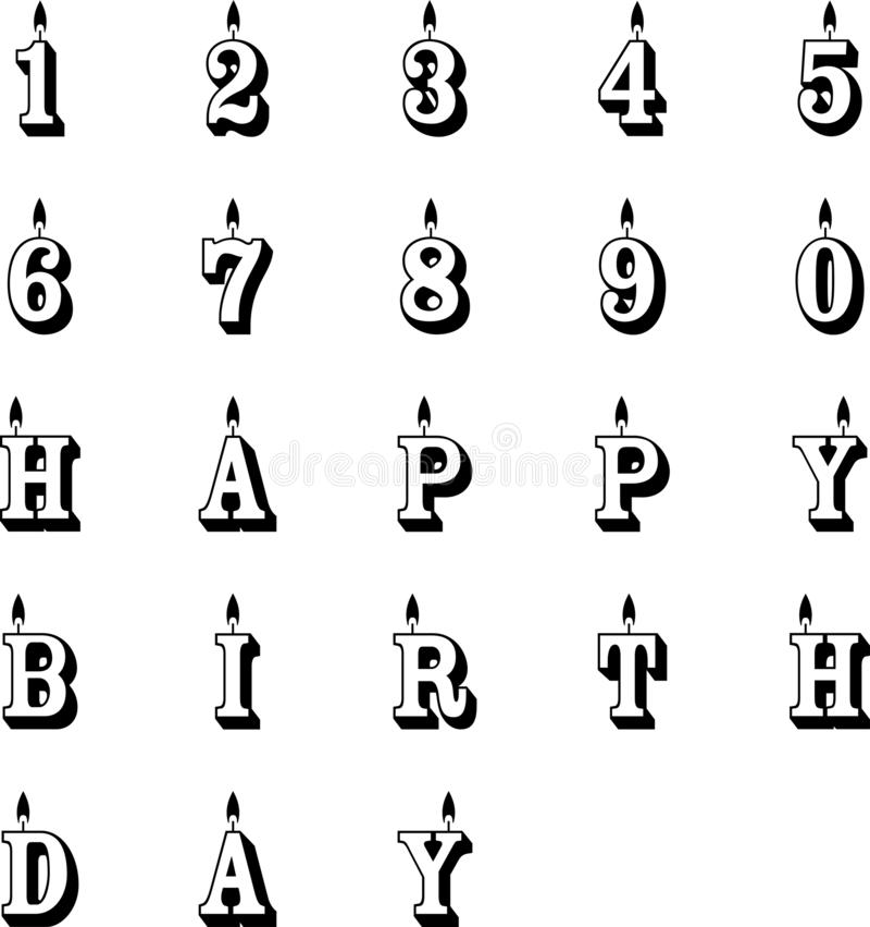 Vectoreps van verjaardagskaarsen Vector, Eps, Embleem, Pictogram, Silhouetillustratie door crafteroks voor verschillend gebruik B royalty-vrije illustratie