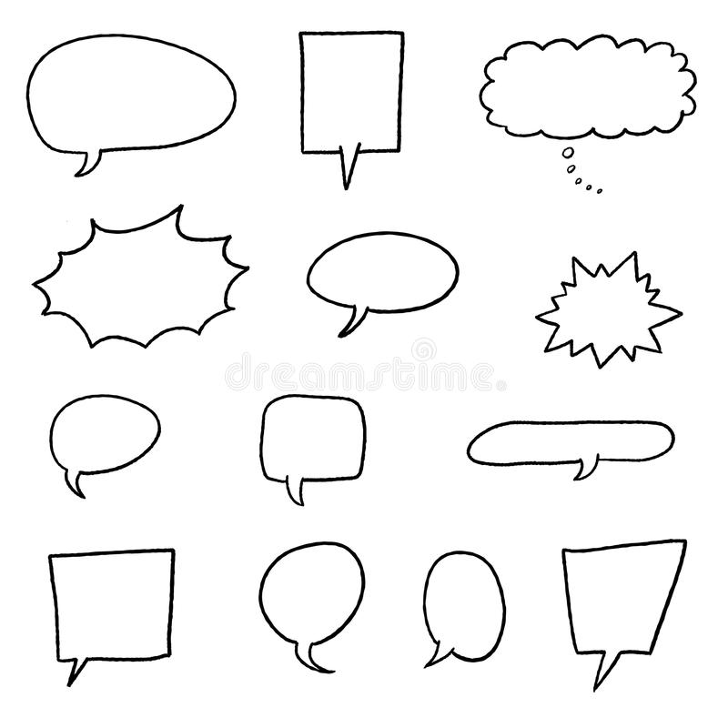 Vectores de la burbuja del discurso ilustración del vector