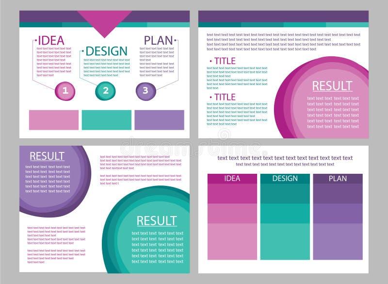 Vectores de la diapositiva de la presentación del márketing de negocio libre illustration