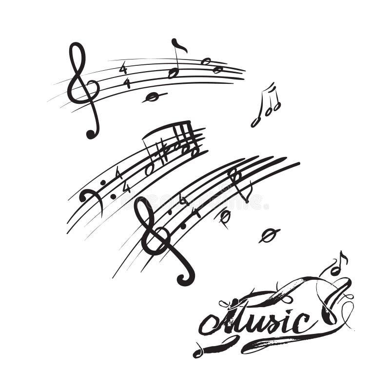 vectores de la textura de las notas de la música libre illustration