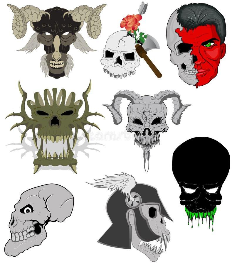 Vectores de los cráneos libre illustration